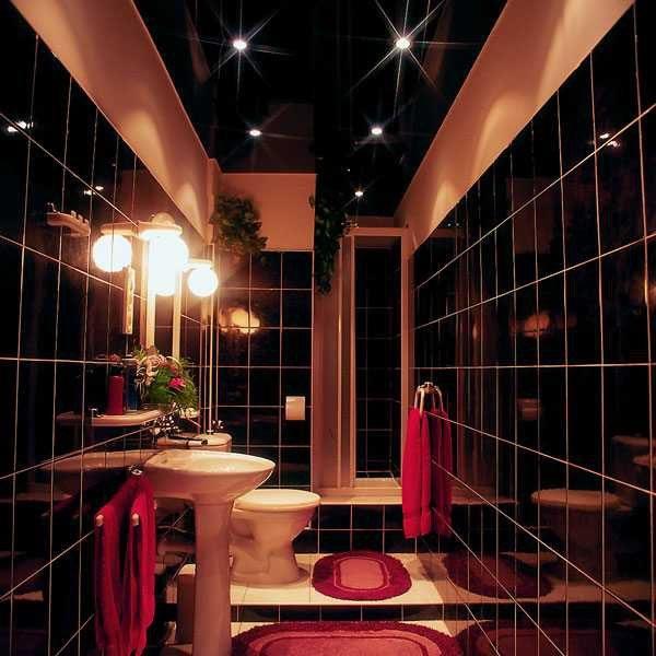 Ванная – многоярусное освещение