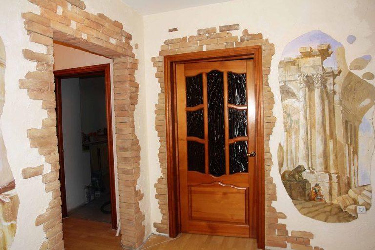 Как красиво оформить дверной проем без двери своими руками фото 52