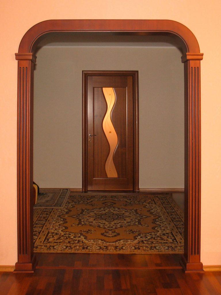 Как сделать арку в проеме дверей 235