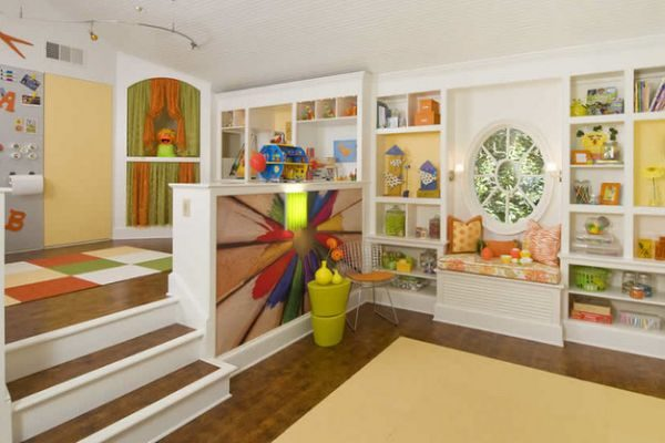 Зоны отдыха в детской комнате