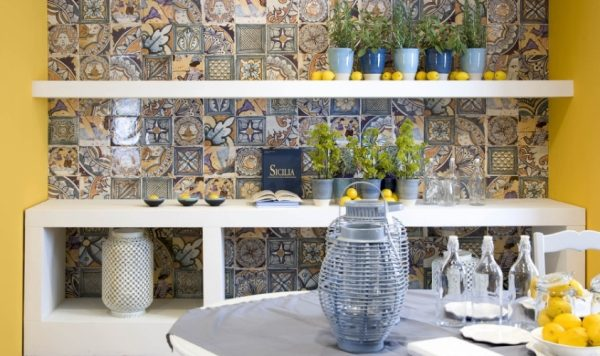 Узорчатая керамика в интерьере