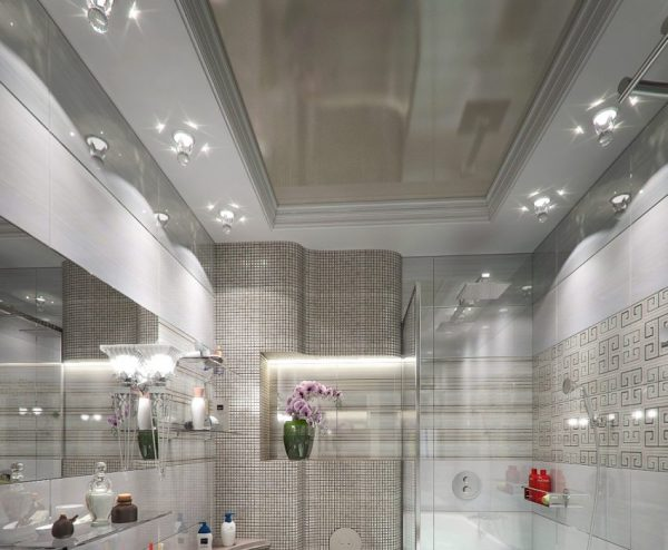 Правильный потолок в ванной комнате
