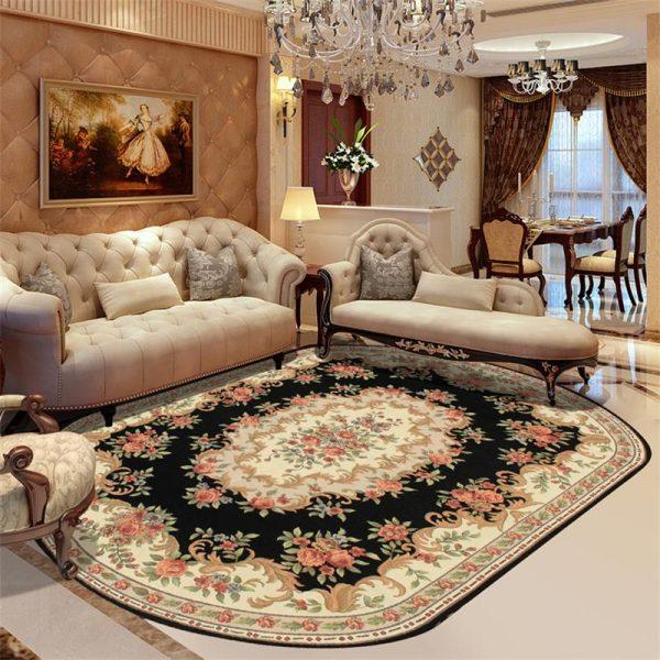 Функции овальных ковров в интерьере