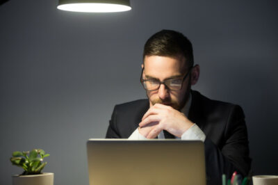 concerned male thinking about company problem solution 1163 4097